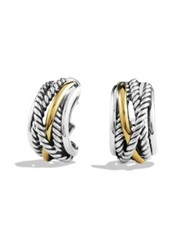 David Yurman Crossover Earrings With Gold Silver Gold