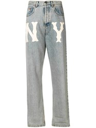 Gucci Ny Yankeestm Patch Jeans Blue