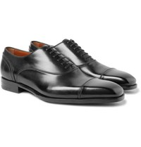 Ermenegildo Zegna Milano Cap Toe Leather Oxford Shoes Black