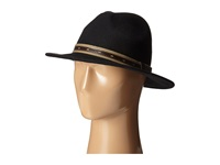 San Diego Hat Company Wfh7952 Fedora With Faux Leather Band Black Fedora Hats