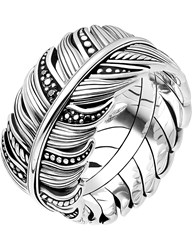 Thomas Sabo Rebel At Heart Feather Sterling Silver Ring