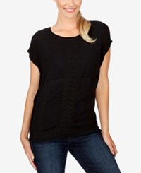 Lucky Brand Embroidered Sweater Lucky Black