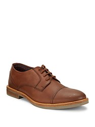 Ben Sherman Leon Leather Oxfords Brown Oil