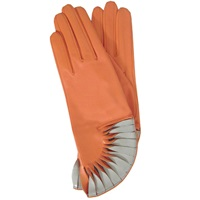 Thomasine Gloves Paris Glove Sun Fan Wrist Geranium Yellow Orange