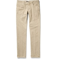 Incotex Slim Fit Cotton Corduroy Trousers Neutrals