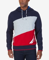 Nautica Men's Big And Tall Colorblocked Hoodie Navy