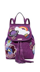 Marc Jacobs Patched Backpack Purple