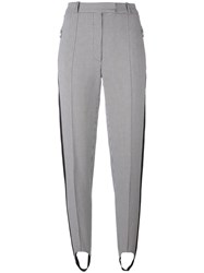 Nina Ricci Houndstooth Stirrup Trousers Black