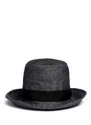 Attachment X Kijima Takayuki Linen Herringbone Tweed Hat Grey