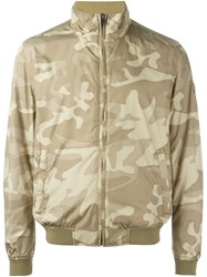 Woolrich Reversible Camouflage Bomber Jacket Nude And Neutrals