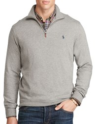 Polo Big And Tall Cotton Blend Jersey Pullover Winter Grey