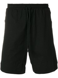 Lost And Found Rooms Drawstring Shorts Cotton Spandex Elastane Black