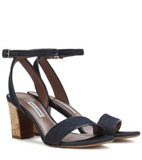 Tabitha Simmons Leticia Denim Sandals Blue