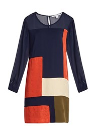 Diane Von Furstenberg Raegan Tunic Dress Navy Multi