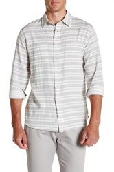Grayers Dover Trim Fit Double Woven Sport Shirt Gray