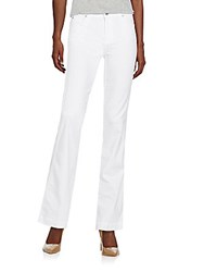 7 For All Mankind Slim Flared Jeans White