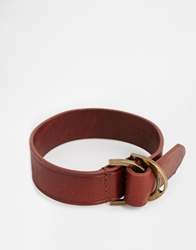 Polo Ralph Lauren Stirrup Leather Bracelet Brown