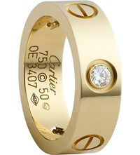 Cartier Love 18Ct Yellow Gold And Diamond Ring