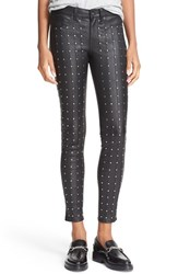 Rag And Bone Women's Jean 'Hyde' Studded Leather Skinny Pants
