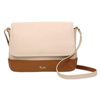 Tula Nappa Originals Small Leather Flapover Cross Body Bag Cream