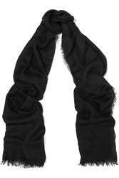 Helmut Lang Cashmere And Silk Blend Scarf Black