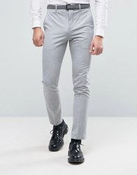 Selected Homme Super Skinny Suit Trousers In Pale Grey Grey