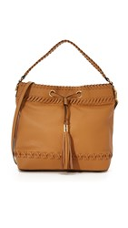 Milly Astor Whipstitch Hobo Bag Caramel