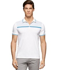 Calvin Klein 3 Button Stripe Polo Shirt