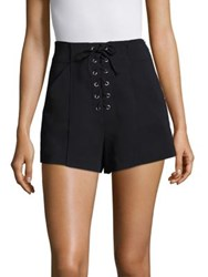A.L.C. Kyle Lace Up Crepe Shorts Midnight