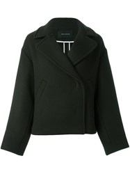 Cedric Charlier Double Breasted Jacket Green