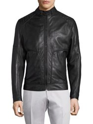 Strellson Shield Perforated Leather Jacket Black