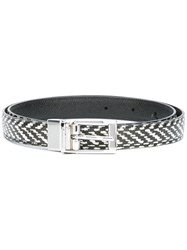 Dolce And Gabbana Woven Belt Black