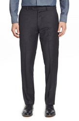 Men's Strong Suit 'Dagger' Flat Front Solid Wool Trousers Charcoal