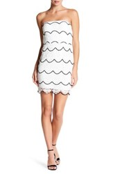 City Triangles Scallop Lace Strapless Dress Multi