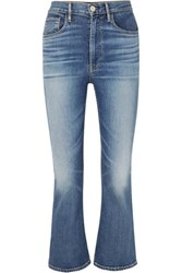 3X1 W5 Empire Cropped High Rise Flared Jeans Mid Denim
