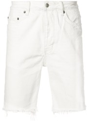 Ksubi Raw Hem Shorts Men Cotton 30 White