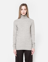 Nsco Flat Knitted Turtleneck In Light Grey