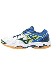 Mizuno Wave Phantom Handball Shoes White Dress Blues Dazzling Blue