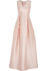 Alexis Dao Perforated Satin Crepe Gown Pink