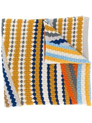 Missoni Stripe Patterned Scarf Yellow