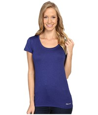 Marmot All Around Tee S S Royal Night Heather Women's T Shirt Blue