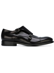Henderson Fusion Classic Monk Shoes Black