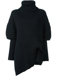 Ann Demeulemeester Oversized Turtleneck Jumper Black