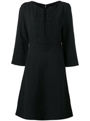 Isabel Marant Palmi Dress Women Silk Cotton Linen Flax 38 Black