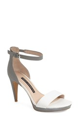Women's French Connection 'Nata' Sandal Summer White Leather