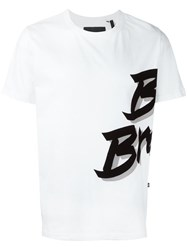 Blood Brother Stylised Print T Shirt White