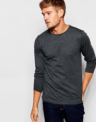 Esprit Long Sleeve Top In Grey Marl Anthracite