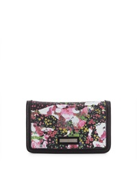 Charles Jourdan Vivid2 Clutch Chain Crossbody Bag Black Flower