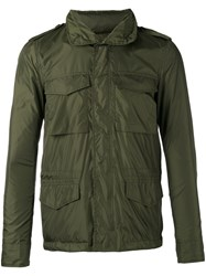 Aspesi Minifield Windbreaker Jacket Men Polyamide L Green