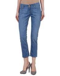 Rich And Skinny Denim Capris Blue
